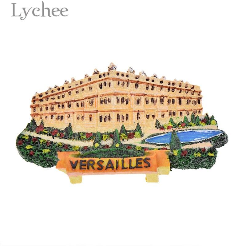 Lychee-réfrigérateur magnétique de paysage   Aimants français, Versailles, résine, Souvenirs de voyage, décoration de maison