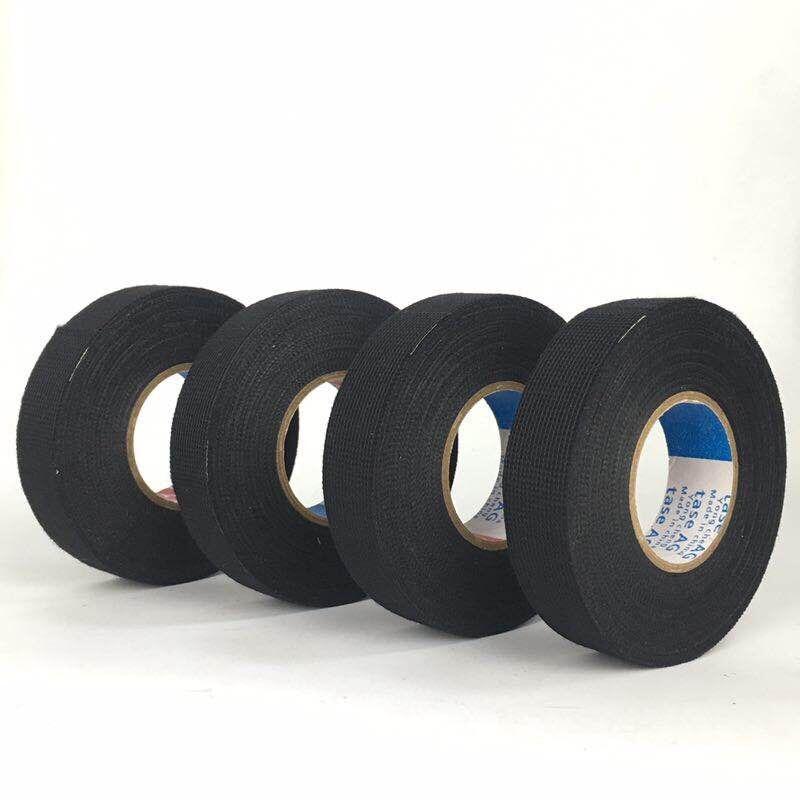 2020 ano novo 19mm x 15m tesa coroplast fita de pano adesiva para cablagem de cabos tear