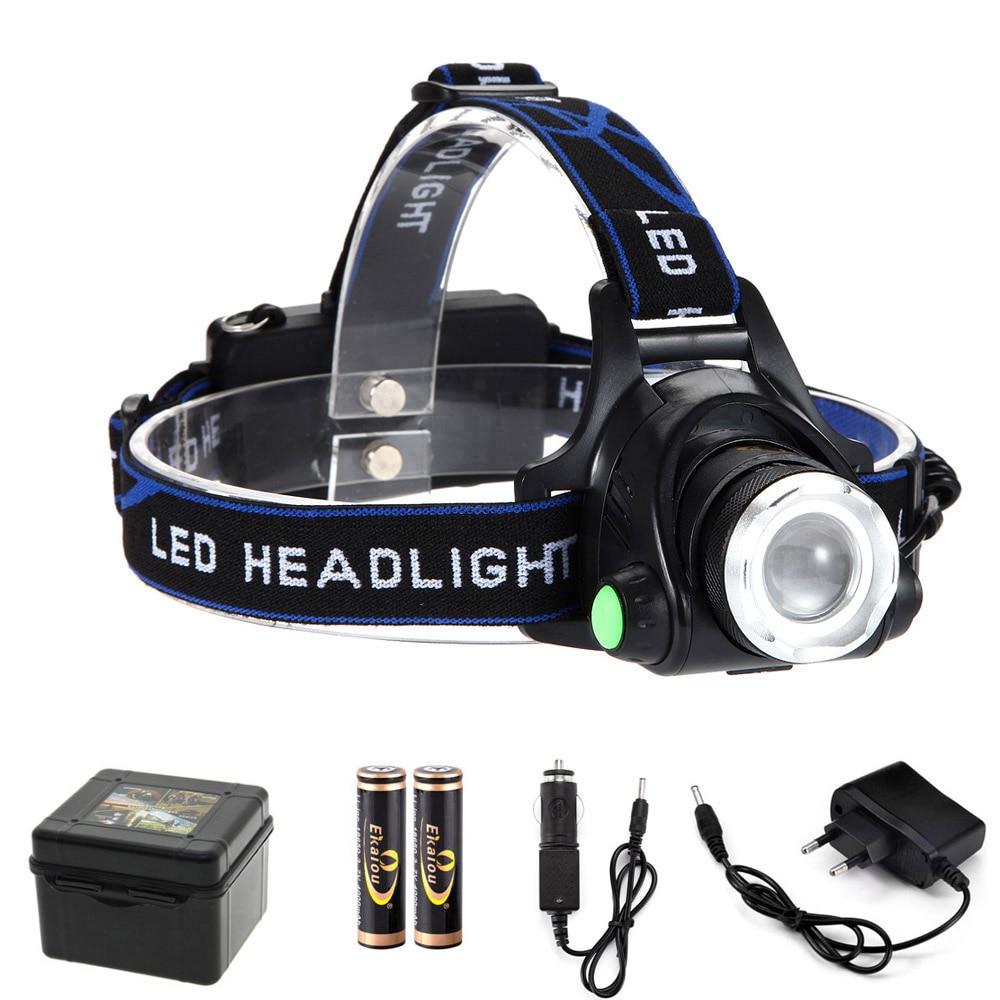 ¡Oferta! linterna para cabeza de 1600 lúmenes recargable Zoom impermeable Led de alta potencia faro bicicleta y camping senderismo kit de luz
