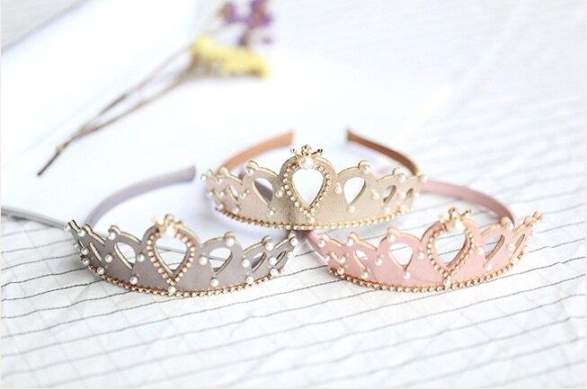 1pc ins Boutique real tiaras brillantes palos de pelo sólido de diademas de corona accesorios para el pelo de princesa hecha a mano accesorios para el cabello