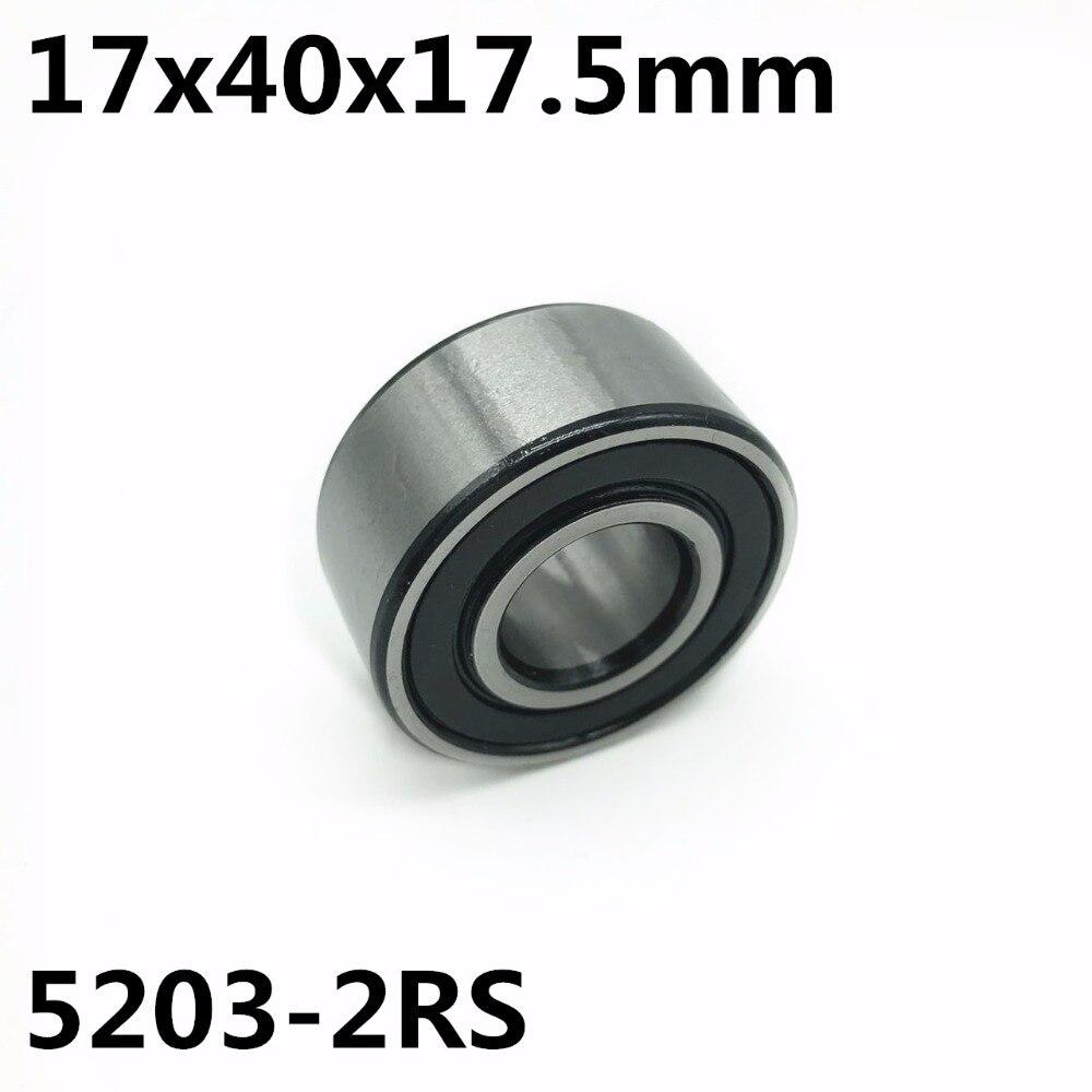 محامل اتصال بزاوية مزدوجة ، 10 قطعة ، 5203-2RS 17x40x17.5 مم ، شحن مجاني 5203