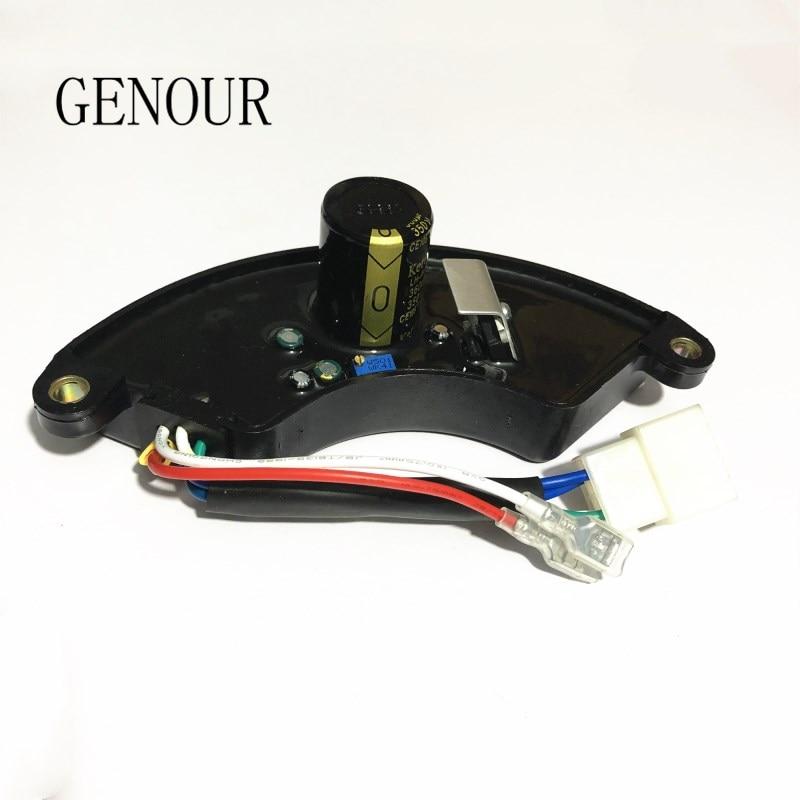 الأصلي CQJY AVR ل 5kw مرحلة واحدة EC6500 مولد بنزين منظم جهد كهربائي أوتوماتيكي ، 350V360UF LT390 قطع الغيار T105A