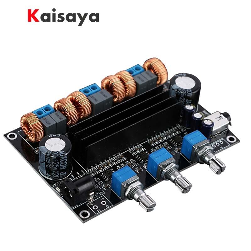 TPA3116D2 18V to 24V Subwoofer Digital Audio Amplifier Board 50w+50W+100W 2.1 channel amplificador B1-002