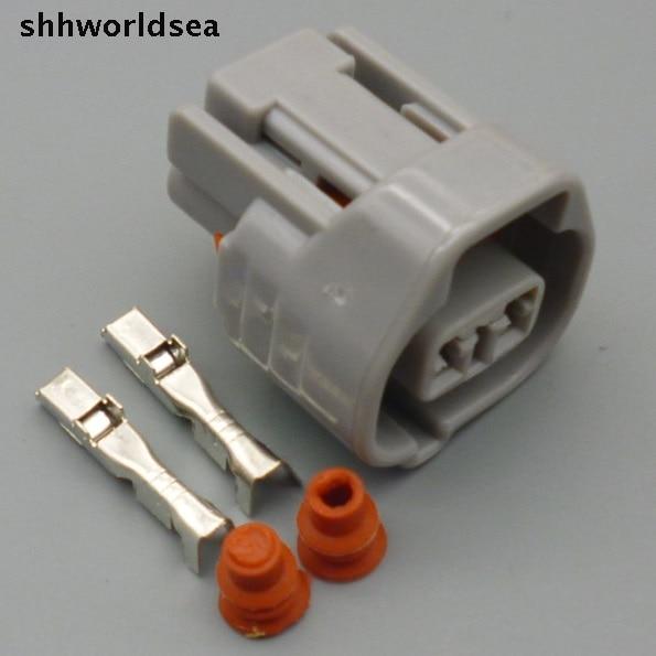 shhworldsea 2 Pin 2.2m female Auto Oil nozzle plug Car waterproof electrical connector socket 6189-0249  for Toyota,Honda Nissan