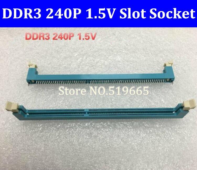 Enchufe de ranura de memoria DDR3 240P 1,5 V para ordenador de escritorio
