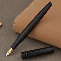 Full Metal Matte black thread body Iraurita fountain pen 0.5mm ink pens Business Office caneta tinteiro Stationery Gift 1037