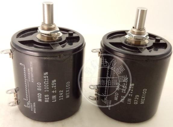 [Yk] original vishay méxico mod 860 860 1 k 100ohm 20ohm 20r 100r 10 bobina multióleo fio-enrolado potenciômetro interruptor