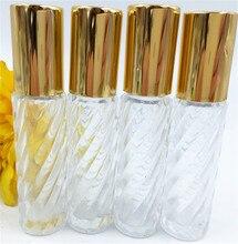 Bouteille rechargeable vide en verre clair de rouleau de 10 ml pour les flacons de voyage dhuile de parfum de parfum conteneurs cosmétiques 20 pcs/lot P036