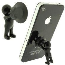 3 pièces/lot mignon 3D homme Hercules support de téléphone méchant support pour IPhone pour Samsung et tous les téléphone intelligent piston Sucke