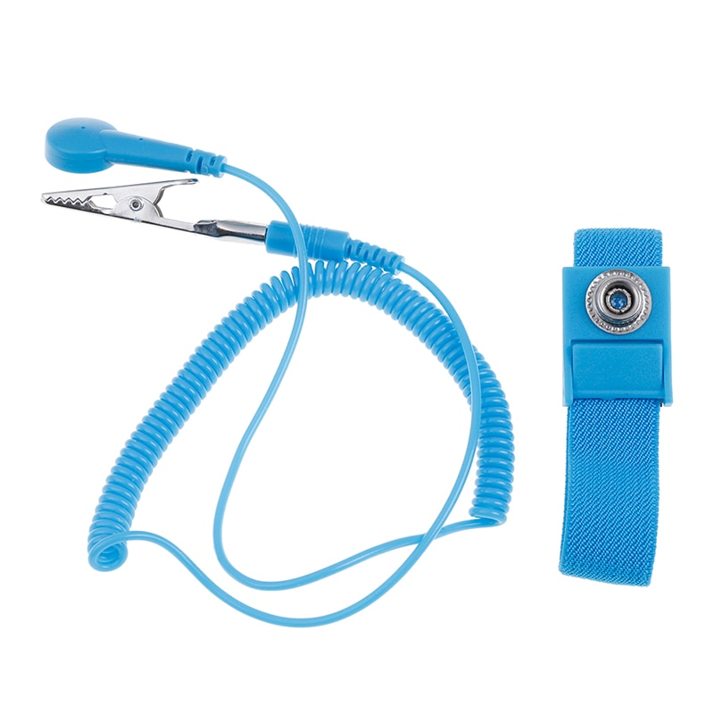 Anti Static Bracelet Electrostatic Cordless Wireless Adjustable ESD Discharge Cable Wrist Band Strap Hand With Spare Wristband hot pvc cordless wireless clip antistatic anti static esd wristband wrist strap discharge cables for electrician ic plcc worker