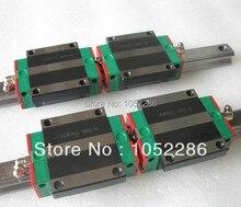 2pcs HGR15-L1200mm 100% brand new Hiwin linear rail guide rail +4pcs HGW15CA flanged block for cnc