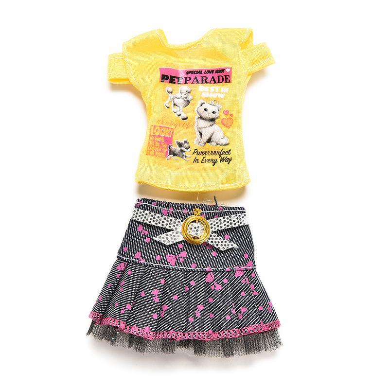 1 juego recién llegado, gran oferta, camiseta de falda de juguete informal con muñeca mágica pegada, accesorios de ropa para muñeca
