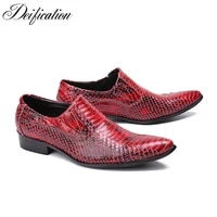 black red white men leather dress shoes pointed toe formal business shoes mens flats slip on solid leather mens shoes casual