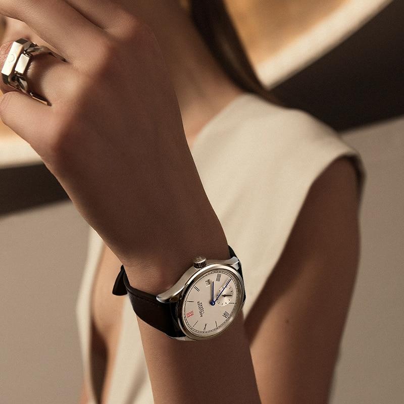 AGELOCER Switzerland Women Brown Strap Dress Watches Luxury Gold Female Casual Watch Ladies Sapphire Mechanical Watch Clocks enlarge