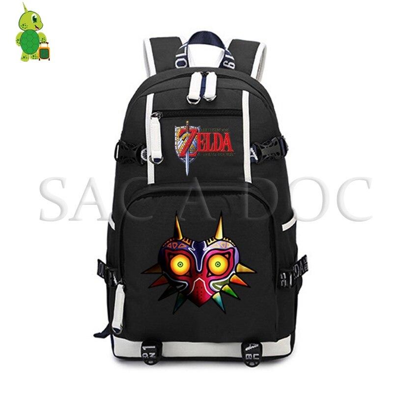 The Legend of Zelda backpack Women Men Laptop Backpack Link/Majora's Mask Canvas Backpack Casual Rucksack school Travel Bags