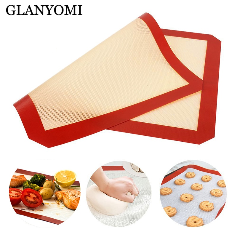 Silicone Baking Mat Non Stick Professional Grade Silicon Liner Mats Pastry Mat Baking Pad Sheet Pastry Tools Fondant Bakeware
