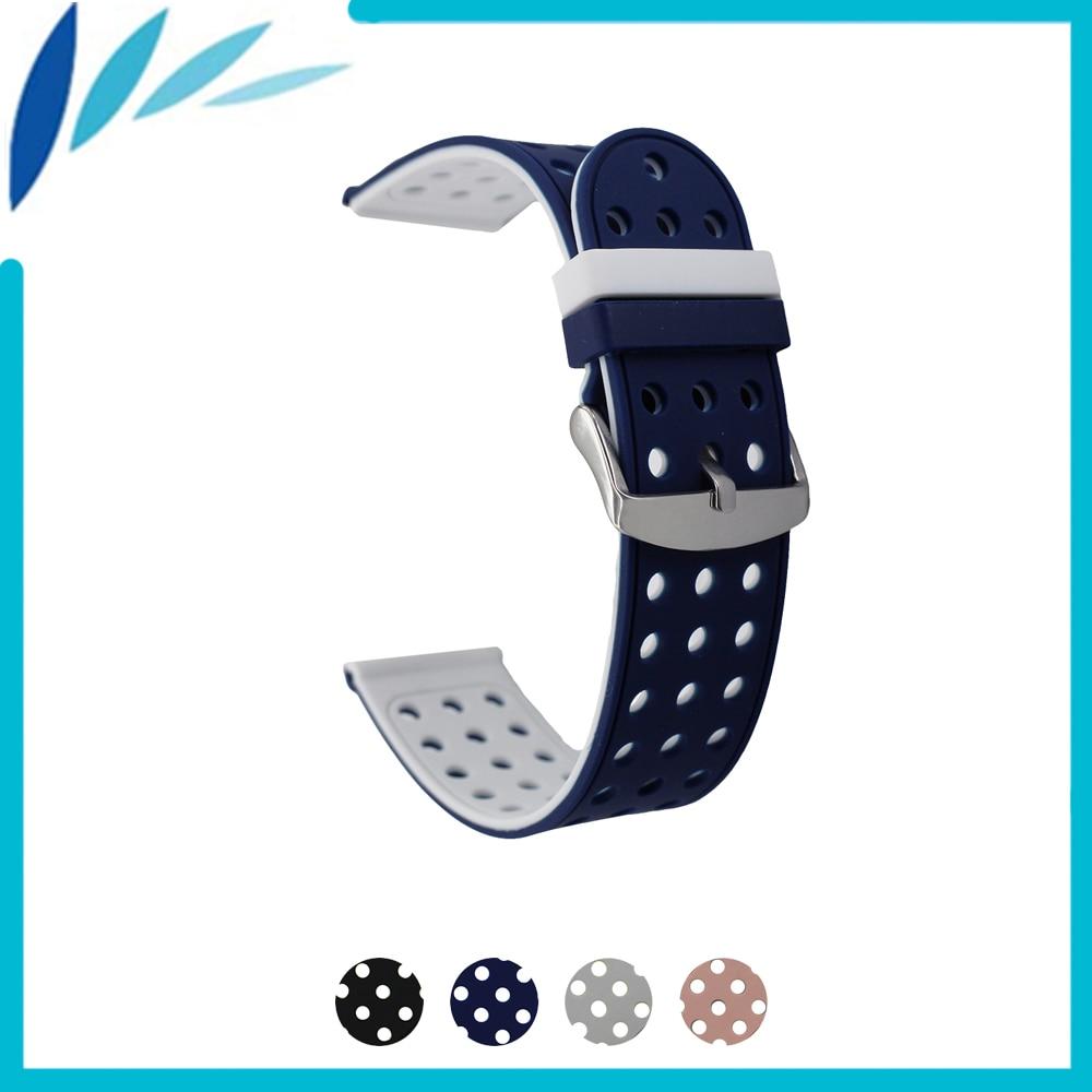 Correa de goma de silicona para reloj 20mm 22mm 24mm para Diesel de la correa de muñeca lazo cinturón pulsera Negro Azul Rojo gris Rosa + herramienta + primavera Bar