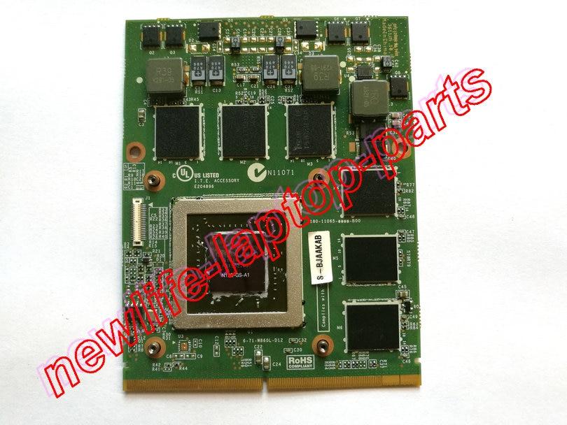 GTX 560 M GTX560M 1.5G Placa De Vídeo VGA GPU para W880CU W860CU W870CU P150HM P150EM P150SM P157SM 6-71-W860L-D12 P151SM1