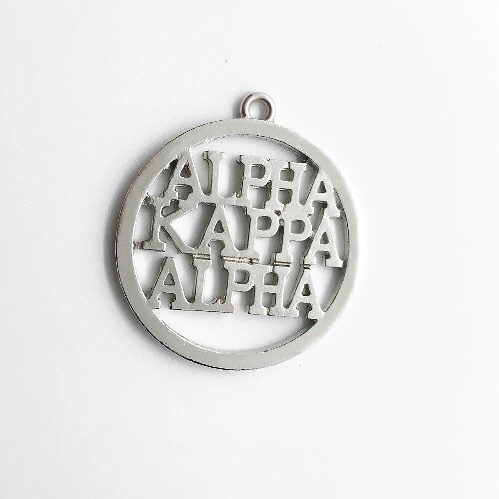 Популярные большие размеры круглые металлические гравировальные ALPHA KAP ALPHA Word очаровательные греческие буквы общества AKA sorority самодельные Украшения, Аксессуары