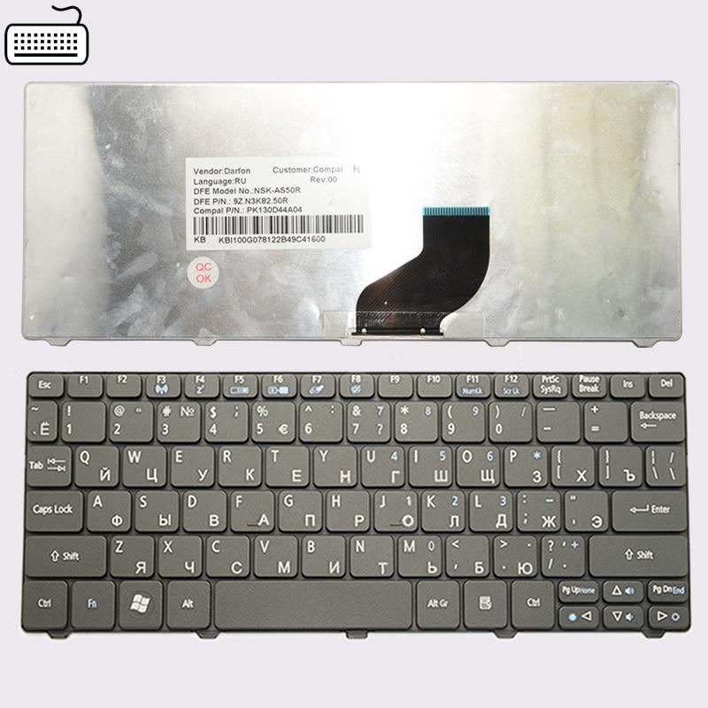 Клавиатура JIGU для Acer Aspire One, черная клавиатура для Acer Aspire One, D255, D257, AOD257, D260, D270, AOD260, AO521, AO532, AO533, 532, H, 521, 533, RU