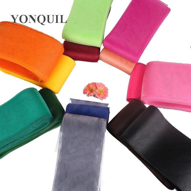 4.7''/12cm Crinoline fabric accessories kentucky derby handwork fascinators DIY nice craft 100yard/lot 25yards/color,4colors/lot
