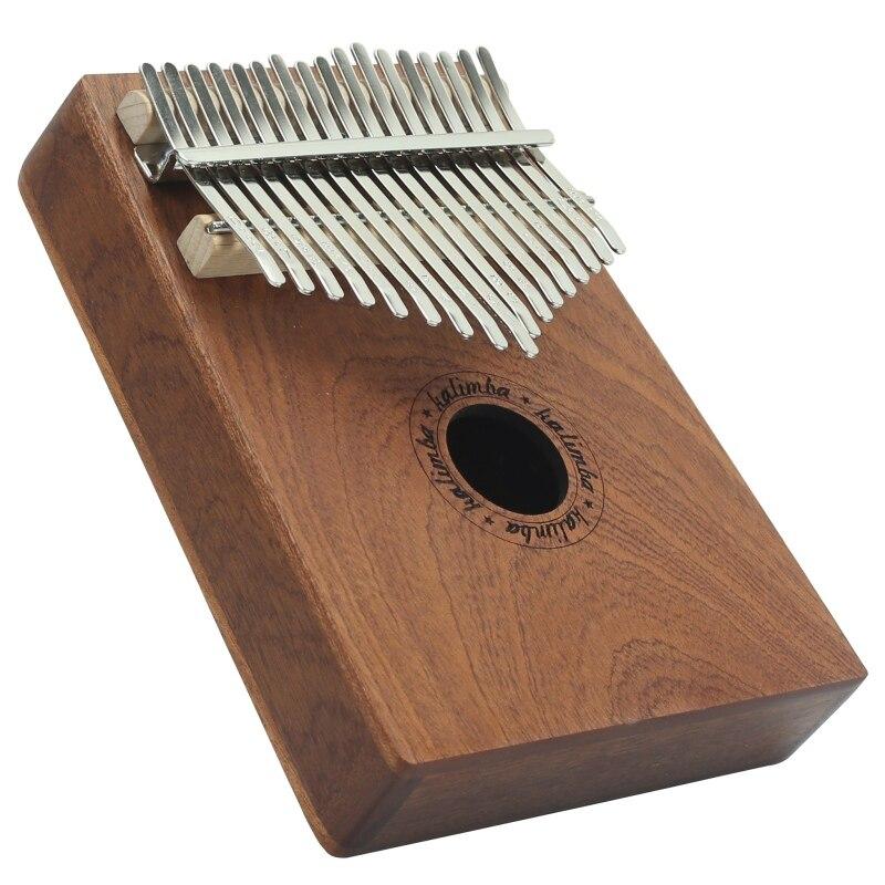 17 tasti di Legno Pollice Pianoforte Strumento di Pino Barra di Alluminio Kalimba Mbira Tastiera Portatile di Musica di Bordo Dito Con Sintonia Martello