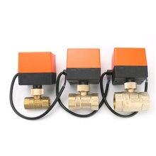 Robinet à bille électrique en laiton   DN15/DN20/DN25, 220V, 2 voies, 3 fils, 1,6mpa avec actionneur pour leau