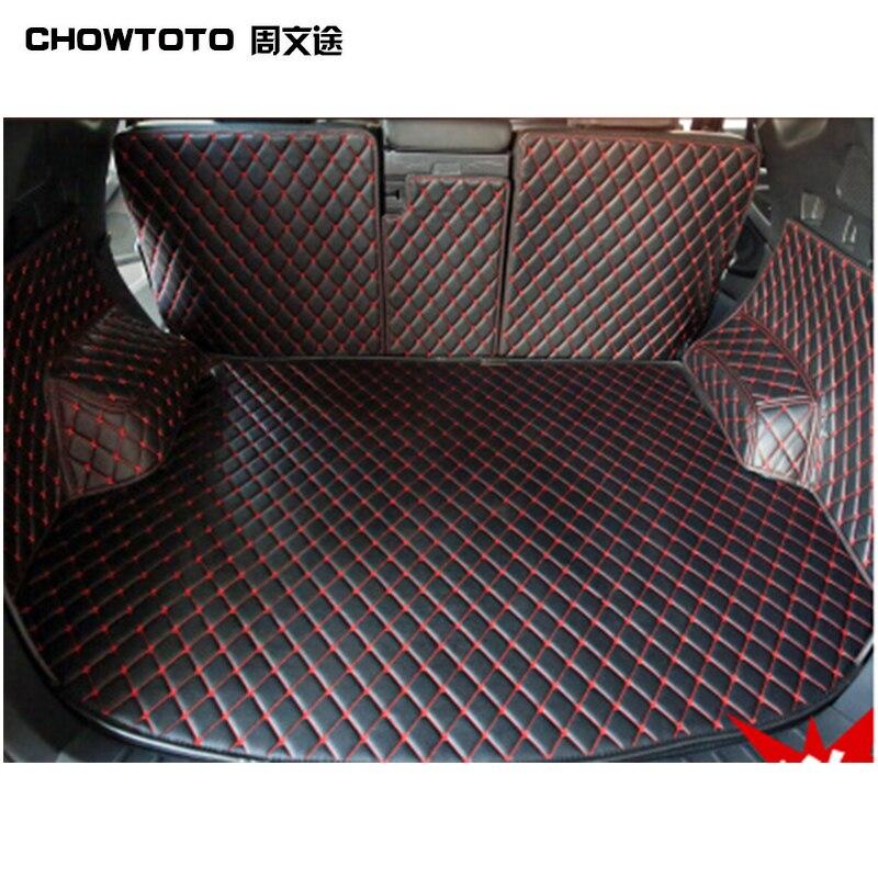 CHOWTOTO AA Personalizado Esteiras Tronco Especial Para Hyundai Santa Fe 5 assentos Tapetes Impermeáveis Duráveis Para Santa Fe 5 Lugares Lagguge Pad