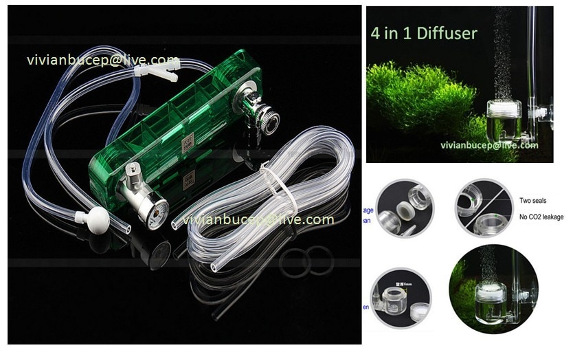 Green/Blue DIY Aquarium CO2 Generator System D-501 Fish Tank Accessory CO2 Equipment Kit, Diffuser for plants tank+FREE SHIPPING