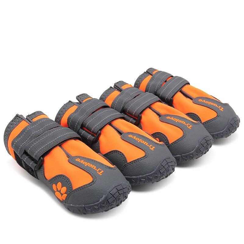 Zapatos de perro Truelove impermeables antideslizantes Botas de lluvia nieve cálida reflectante para entrenamiento deportivo de mascota mediana grande pequeña
