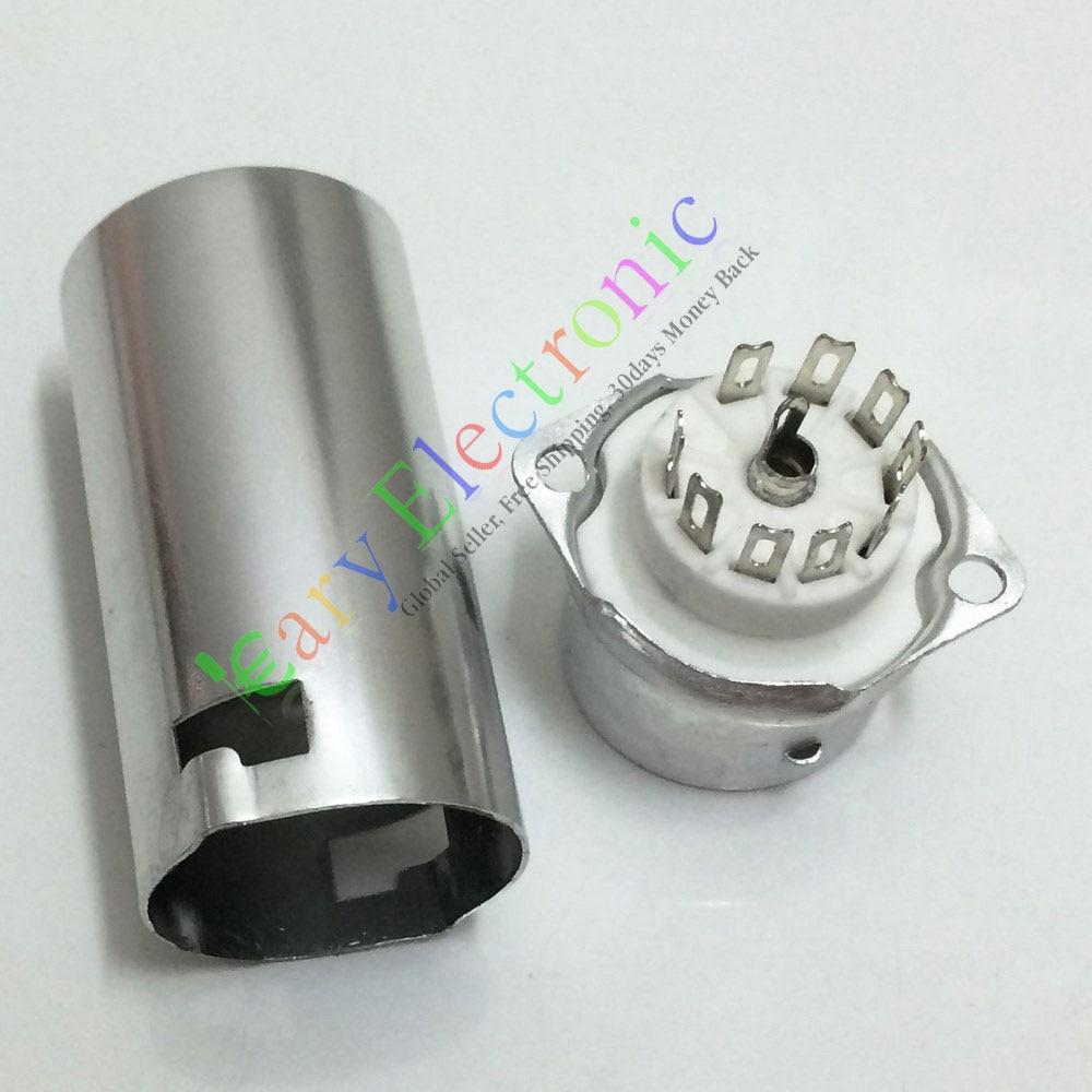 Sprzedaż hurtowa i detaliczna 4pc 9pin ceramiczna rura próżniowa gniazdo zaworu 55mm tarcza 12AX7 12AU7 ECC83 ECC82 darmowa wysyłka