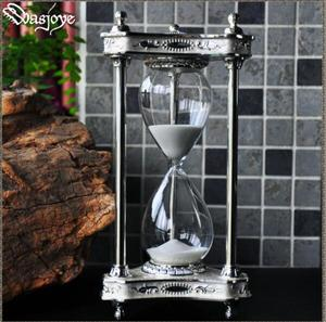 creative 30min silver white metal sand clock shower timer sablier decoration sand glass household items for home decor  Hg003