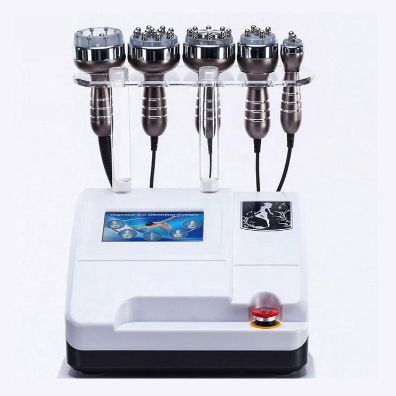 آلة تنحيف الجسم بالتجويف 5 6 8 في 1 ، آلة فراغ التجويف 40K RF ، التجويف 5 6 8 في 1