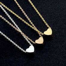 Gros petit coeur collier ras du cou pour les femmes couleur or chaîne petit amour collier pendentif bohème Chocker collier bijoux