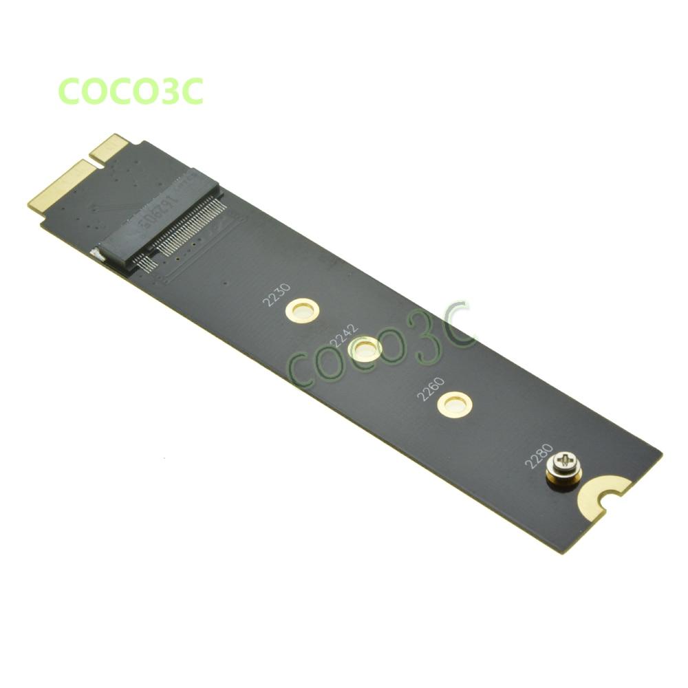 Clave B + M M.2 SSD adaptador como SSD para 2012 MACBOOK aire A1465 A1466 Para SanDisk X110 trascender MTS400