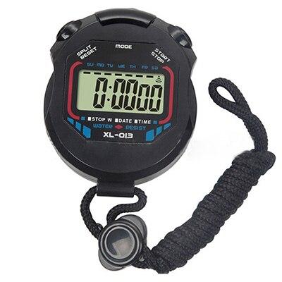 Nuevos deportes cronómetro profesional de mano LCD Digital cronómetro contador con correa