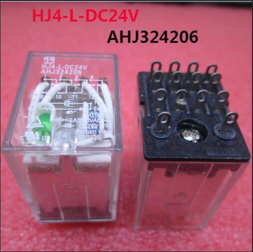 Nuevo relé de 24 V HJ4-L-DC24V AHJ324206 HJ4L-DC24V DC24V 24VDC 24 V 5A 250VAC 14PIN 10 unids/lote