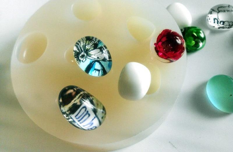 1 Uds. Molde de silicona líquida de guijarro DIY resina joyería collar con colgante molde lanugo moldes de resina para joyería