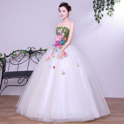 100% real verde & white flower vestido medieval rainha Renascença vestido de traje Vitoriano/Marie Antoinette/Belle guerra civil bola
