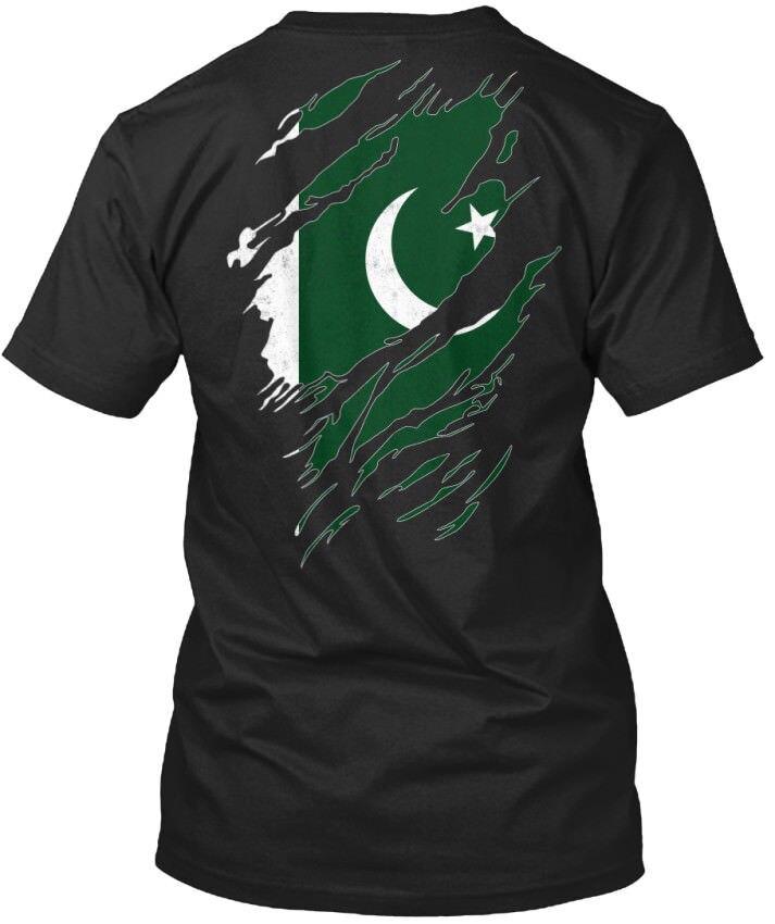 2019 ropa a la moda con cuello redondo I Love Pakistan 338 camiseta Unisex estándar camiseta de verano
