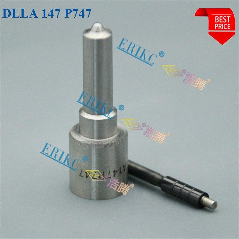 Boquilla ERIKC DLLA147P747 OEM 0934007470 inyector de combustible diésel punta DLLA 147P747 aguja DLLA 147P 747 para 23670-27030, DCRI100570