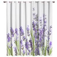 Purple Lavender Window Treatments Curtains Valance Window Curtains Dark Decor Bedroom Indoor Fabric Decor Kids Window Curtain