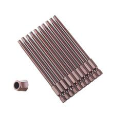 10Pcs Magnetic Hexagon Screwdriver Bit S2 Steel 1/4 Inch Hex Shank Screw Drivers Set Tools H3 H4 H5 H6