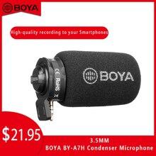 بويا BY-A7H المكثف ميكروفون 3.5 مللي متر الفيديو ميكروفون 3.5 مللي متر ل فون سامسونج هواوي يوتيوب عرض حي تسجيل microfono