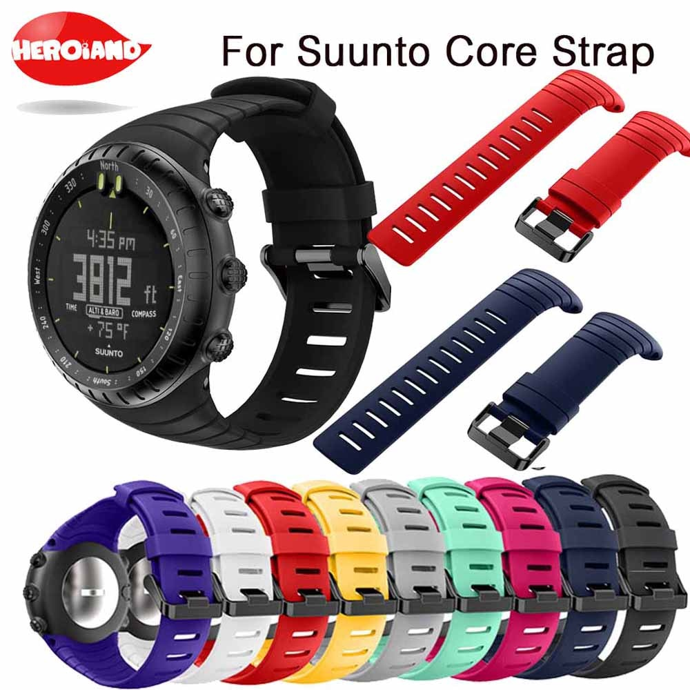 Bracelet outdoors Sports Silicone watch strap For Suunto Core watchBand Smart watch Replacement TPU Strap Wristband Accessories free delivery replacement sport band for suunto core rubber soft watch strap tpu wristband