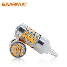 2x  LED CanBus No Error 1156 7506 7528 BA15S P21W led BAU15S PY21W T20 7440 WY21W For Car Turn Signal Light No Flash Yellow @12V