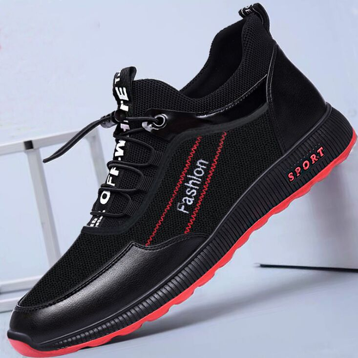 New 2018 Spring Summer Canvas Shoes Men Sneakers Low top Black Shoes Men's Casual Shoes Male Brand F