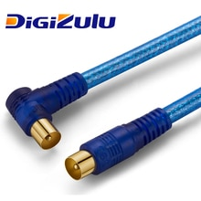Câble dantenne Digizulu RG6 pour Satellite 1080p cctv câble coaxial antenne RF mâle à Angle droit mâle