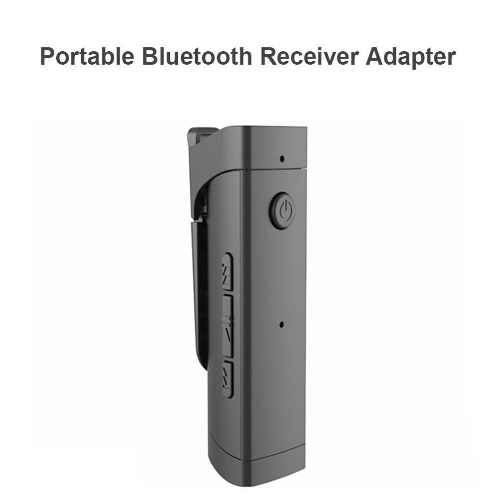 Receptor de Audio Bluetooth 4,2 Collar Clip de solapa tipo de adaptador inalámbrico altavoz Accesorios