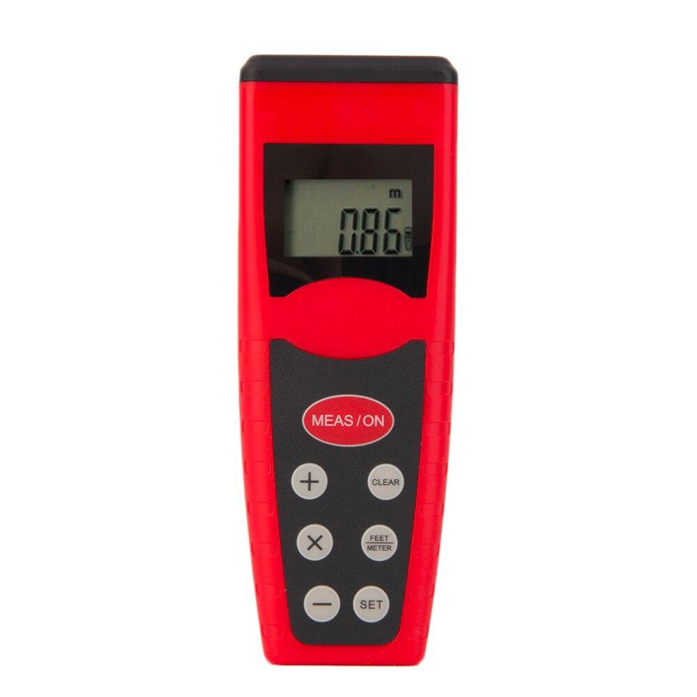 CP3000 Beautiful Red Ultrasonic Rangefinder 50cm to 18m Measure Distance Meter Measurer 9v Battery Laser Pointer Range Finder
